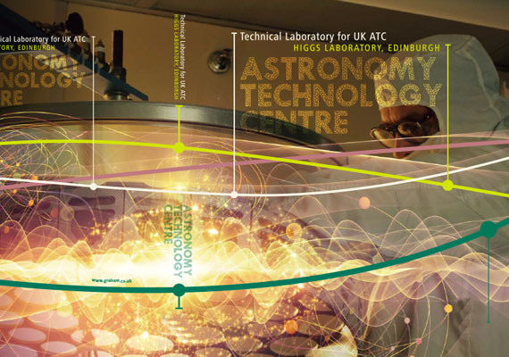 Design & print of the Astronomy Technology Centre, Higgs Laboratory bid presentation for GRAHAM Construction.