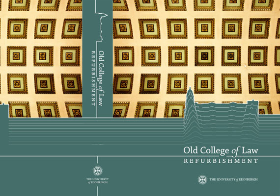 Design & print of the Old College of Law, Edinburgh University bid presentation for GRAHAM Construction.