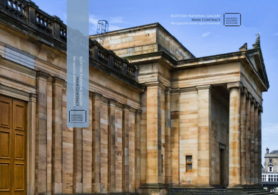 Design & print of the Scottish National Gallery bid presentation for GRAHAM Construction.