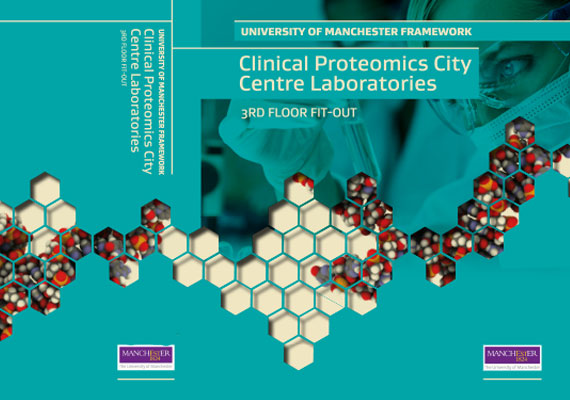 Design & print of the University of Manchester bid presentation for GRAHAM Construction.