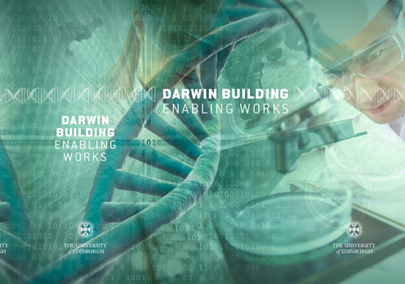 Design & print of the Darwin Building, University of Edinburgh tender.