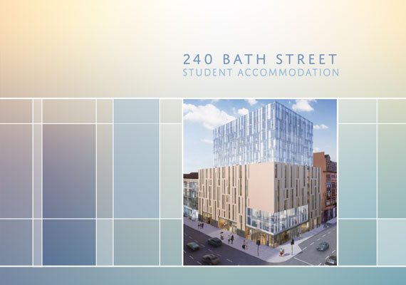 Design & print of the Bath Street bid presentation for GRAHAM Construction.